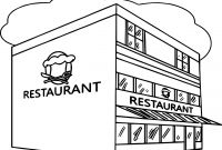 Coloring Pages for Restaurants - Restaurant Building Great Restaurant Coloring Page Wecoloringpage Printable