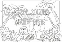 African Safari Coloring Pages - Safari Animals Coloring Pages Printable Cheetah Baby Animal Download