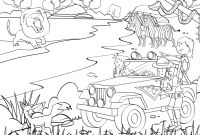 African Safari Coloring Pages - Safari Coloring Page 3 to Print