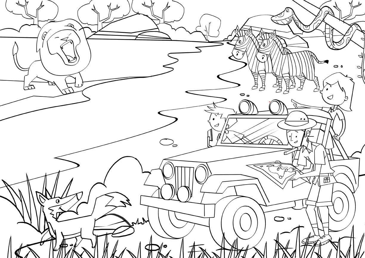 African Safari Coloring Pages Printable 15t - Save it to your computer