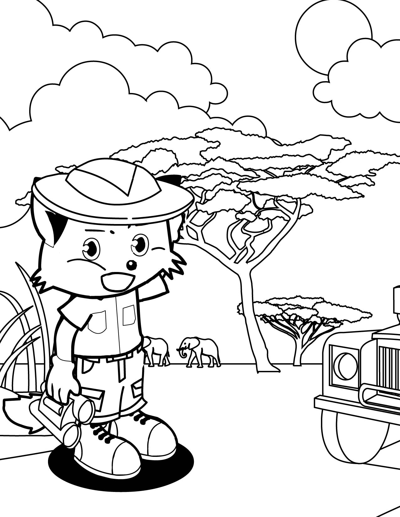 African Safari Coloring Pages Printable