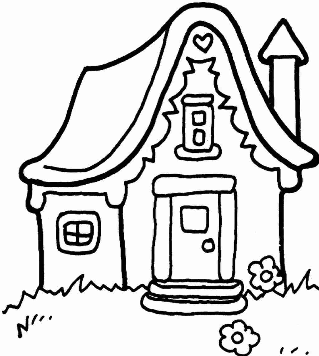 School Building Coloring Pages Magnificent House Page To Print Of School House  Coloring Pages Printable