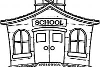 School House Coloring Pages - School Coloring Pages with 35 Coloring Page A School Small School Collection