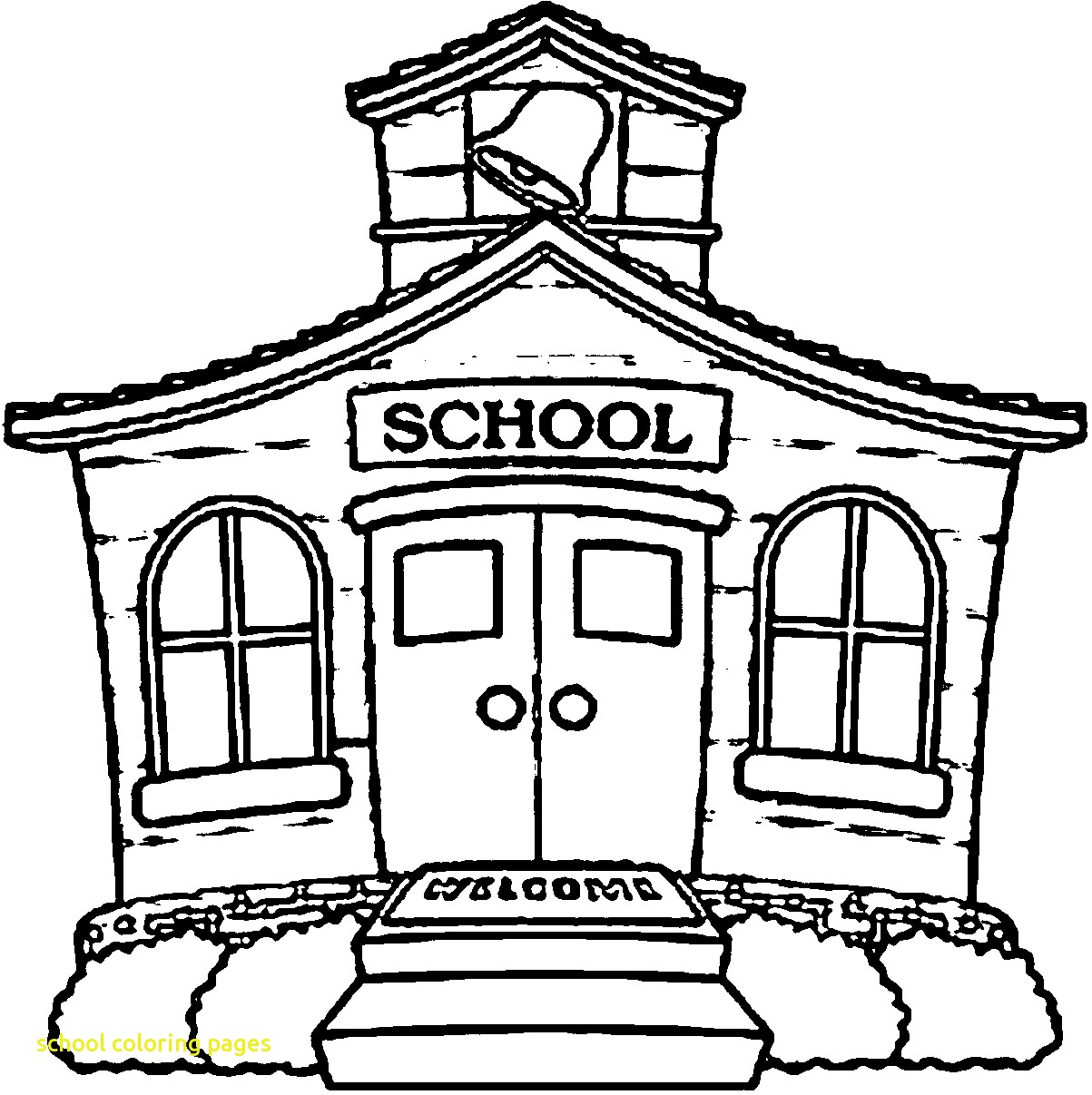 School Coloring Pages with 35 Coloring Page A School Small School Collection Of School House Coloring Pages to Print
