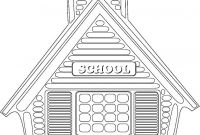 School House Coloring Pages - School House 2 662—1200 to Print