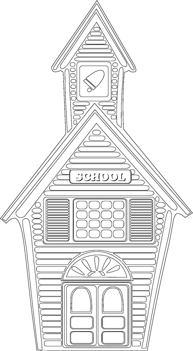 School House 2 662—1200 to Print Of School House Coloring Pages to Print