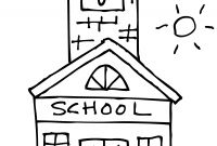School House Coloring Pages - School House Coloring Page 16 with School House Coloring Page Collection