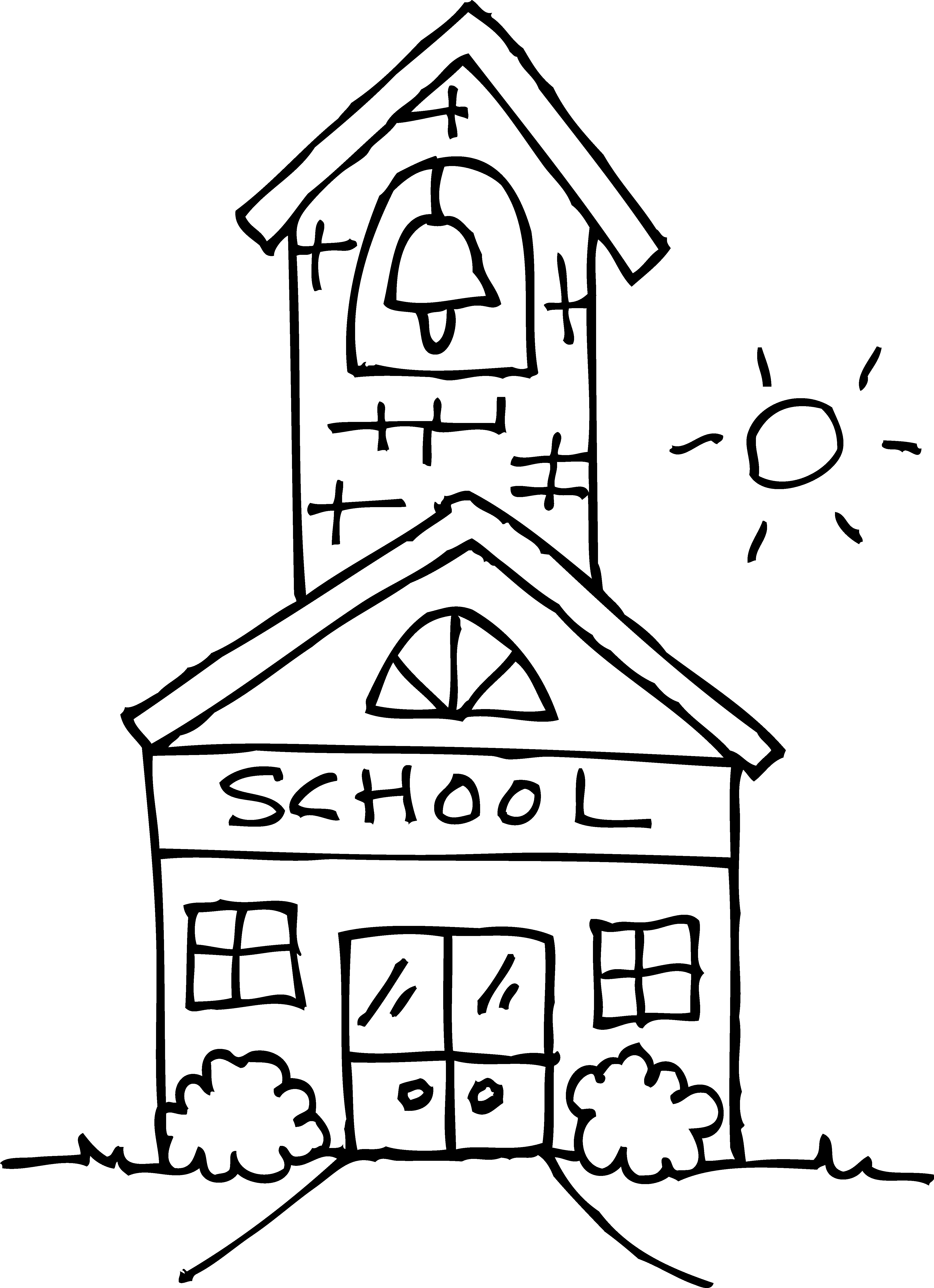 School House Coloring Page 16 with School House Coloring Page Collection Of School Coloring Pages with 35 Coloring Page A School Small School Collection