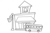 School House Coloring Pages - School House Coloring Page Building Classes for Kids Arilitv Download