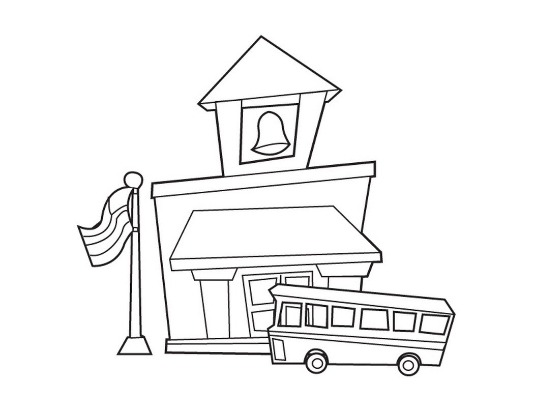 School House Coloring Page Building Classes for Kids Arilitv Download Of School House Coloring Pages to Print