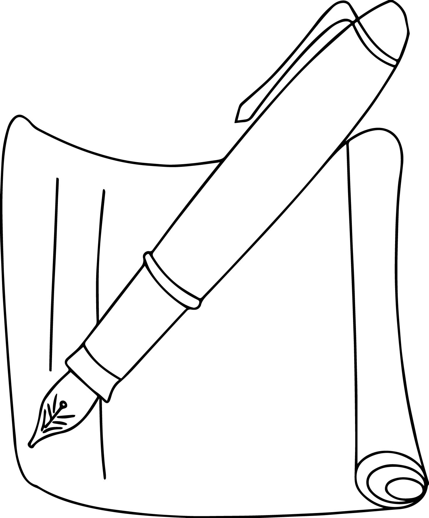 School Pen Coloring Page Awesome top 89 Pen Coloring Pages Free ...