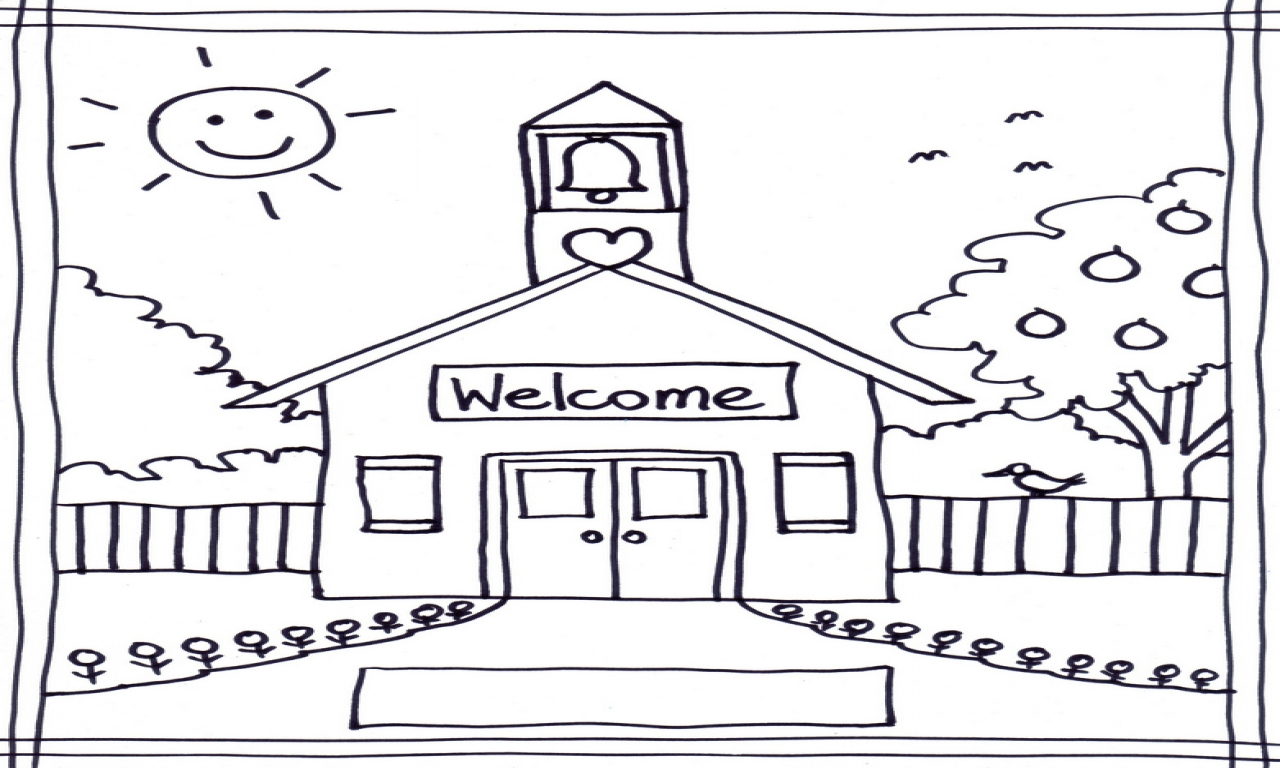 Schoolhouse Coloring Pages Printables Page Grig3 to Print Of School Coloring Pages with 35 Coloring Page A School Small School Collection