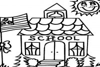 School House Coloring Pages - Schoolhouse Coloring Pages Printables School House Page Grig3 Gallery