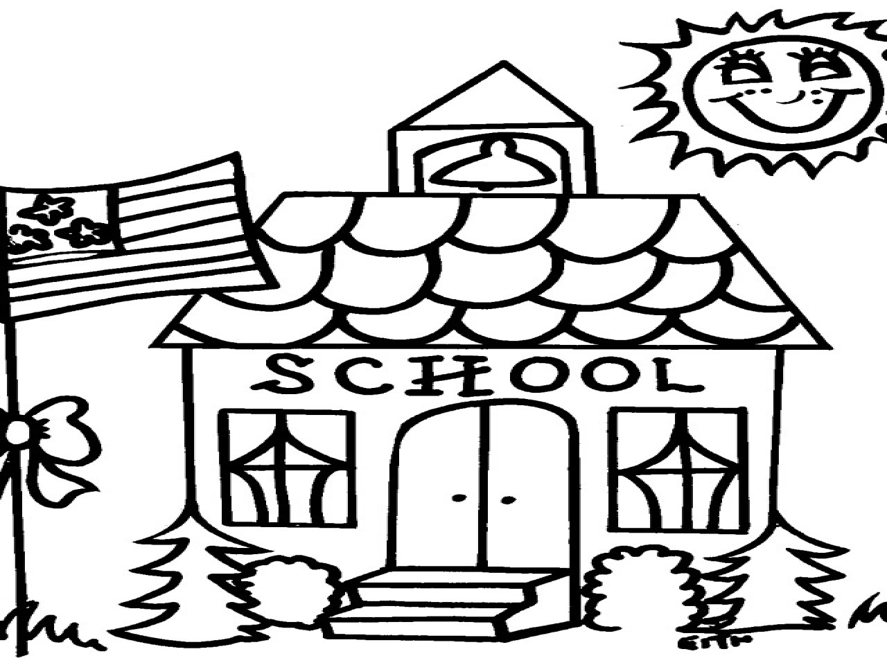 Schoolhouse Coloring Pages Printables School House Page Grig3 Gallery Of School Coloring Pages with 35 Coloring Page A School Small School Collection