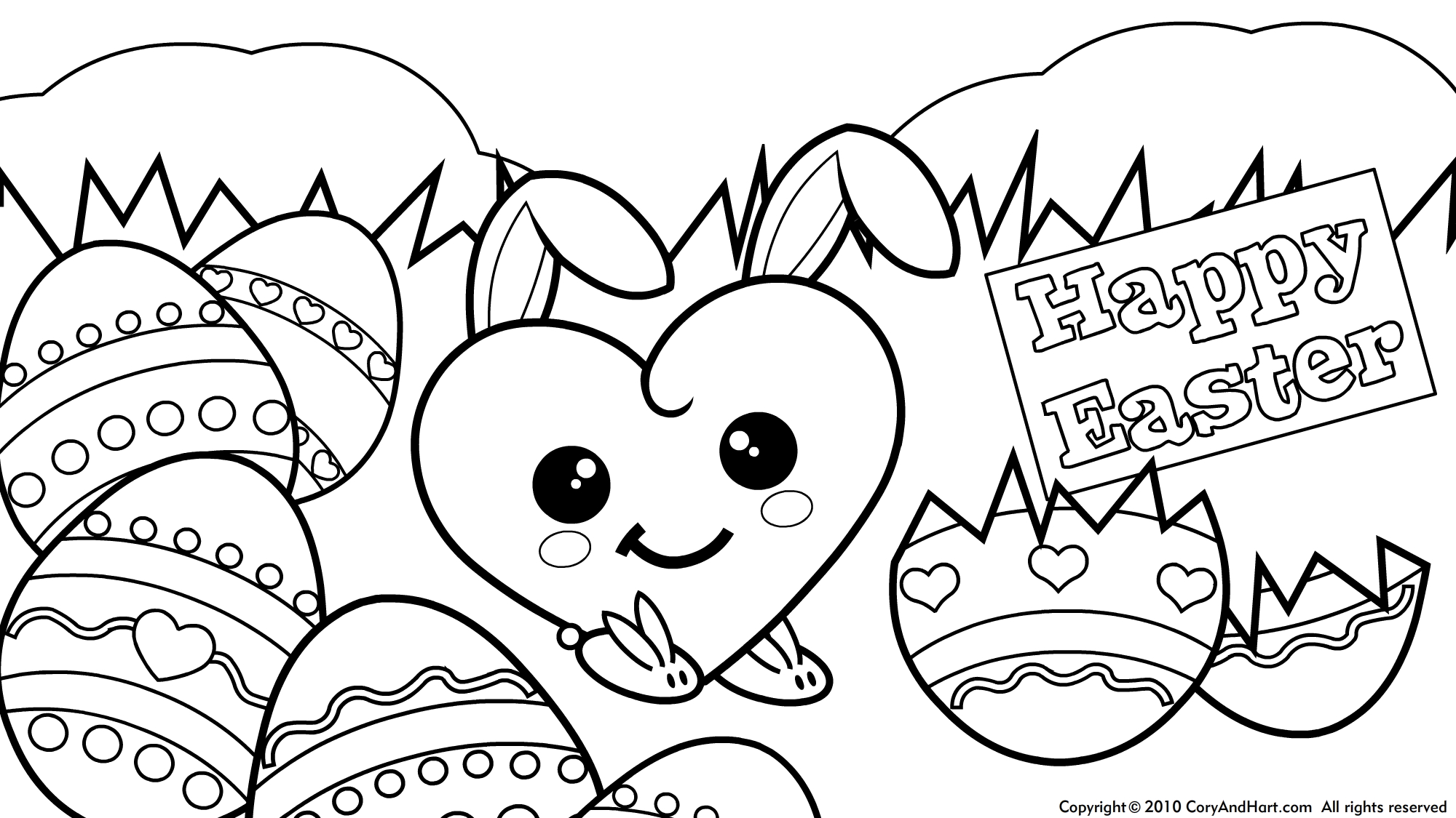 Online Easter Coloring Pages to Print 1i - Save it to your computer