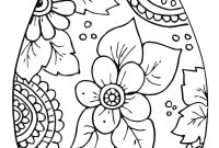 Online Easter Coloring Pages - Sensational Easter Egg Coloring Page Easter Egg Pages 25 Line Kids Collection