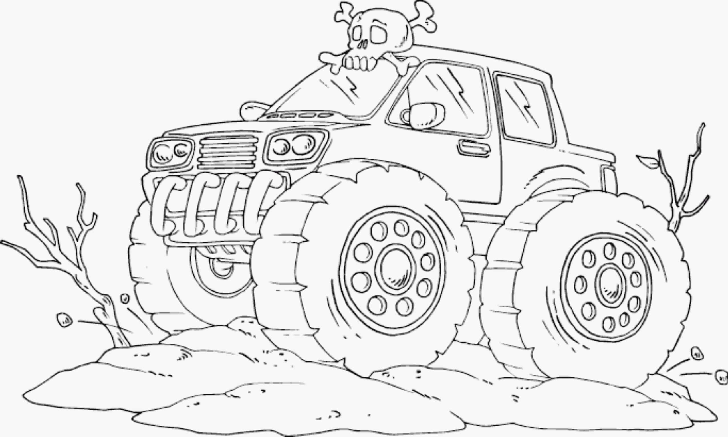 Serious Monster Truck Coloring Page For Kids Pages Printable General Gallery Of Grave Digger