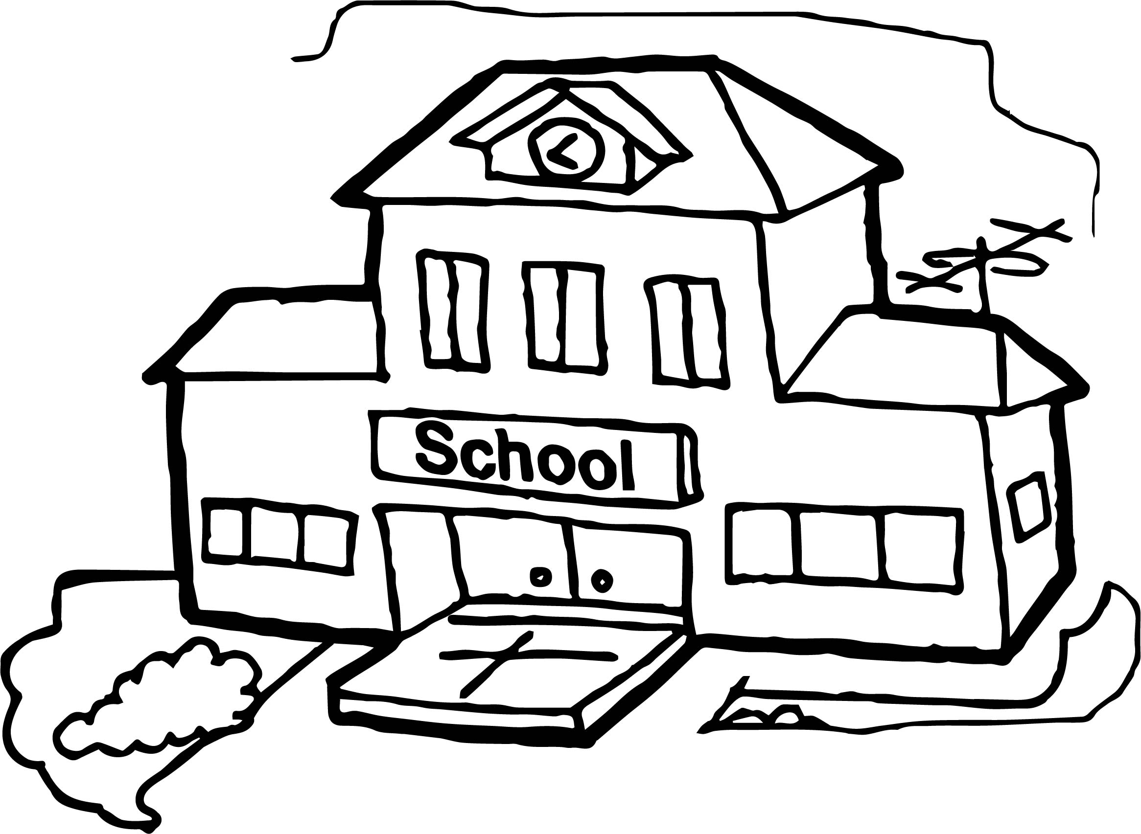 Simple School House Coloring Pages Real Pictures Of Rudolph the Red Collection Of School Coloring Pages with 35 Coloring Page A School Small School Collection
