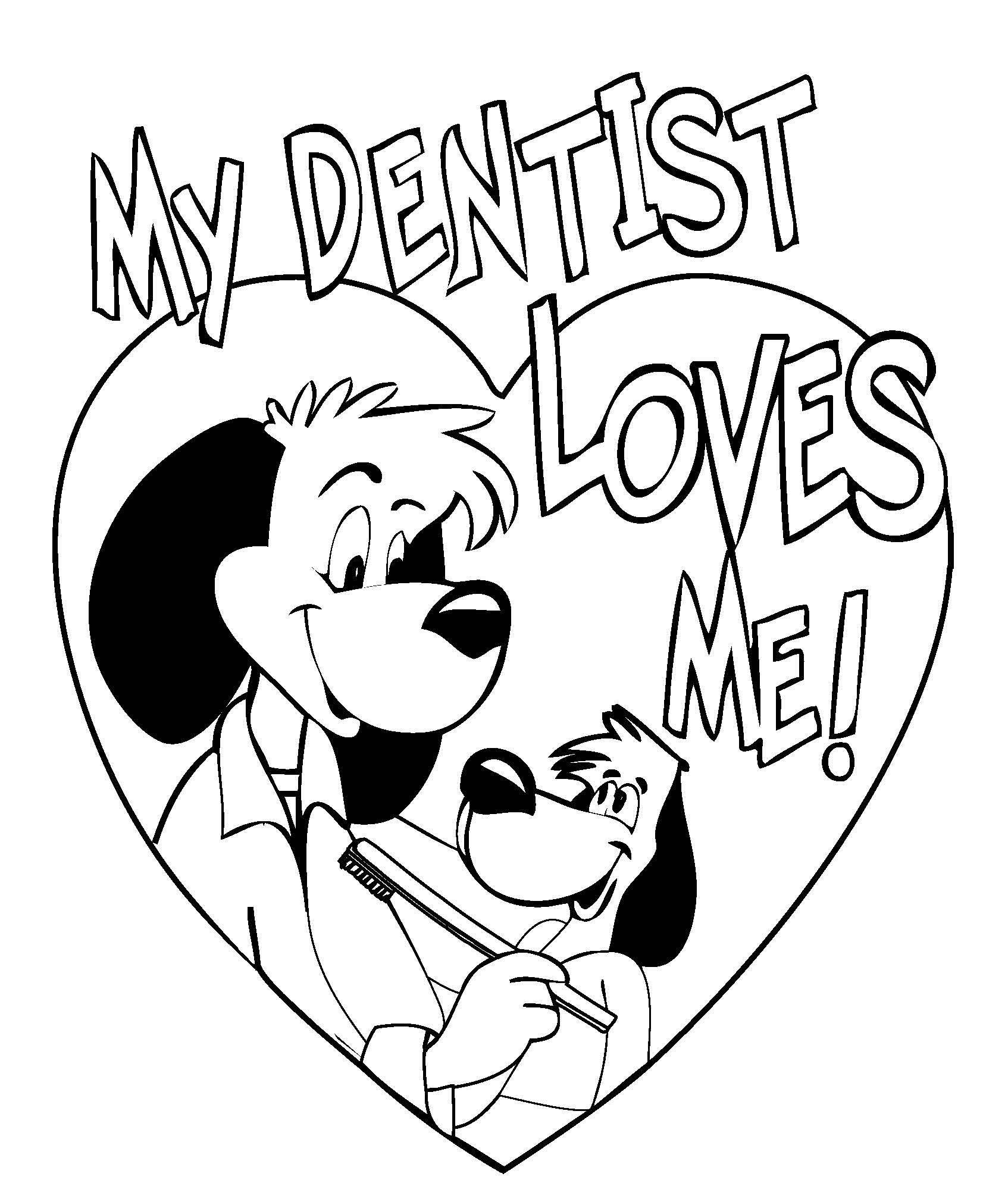 Dentist Coloring Pages for Kids - some Really Cute Dental Coloring Pages Dds Pinterest to Print