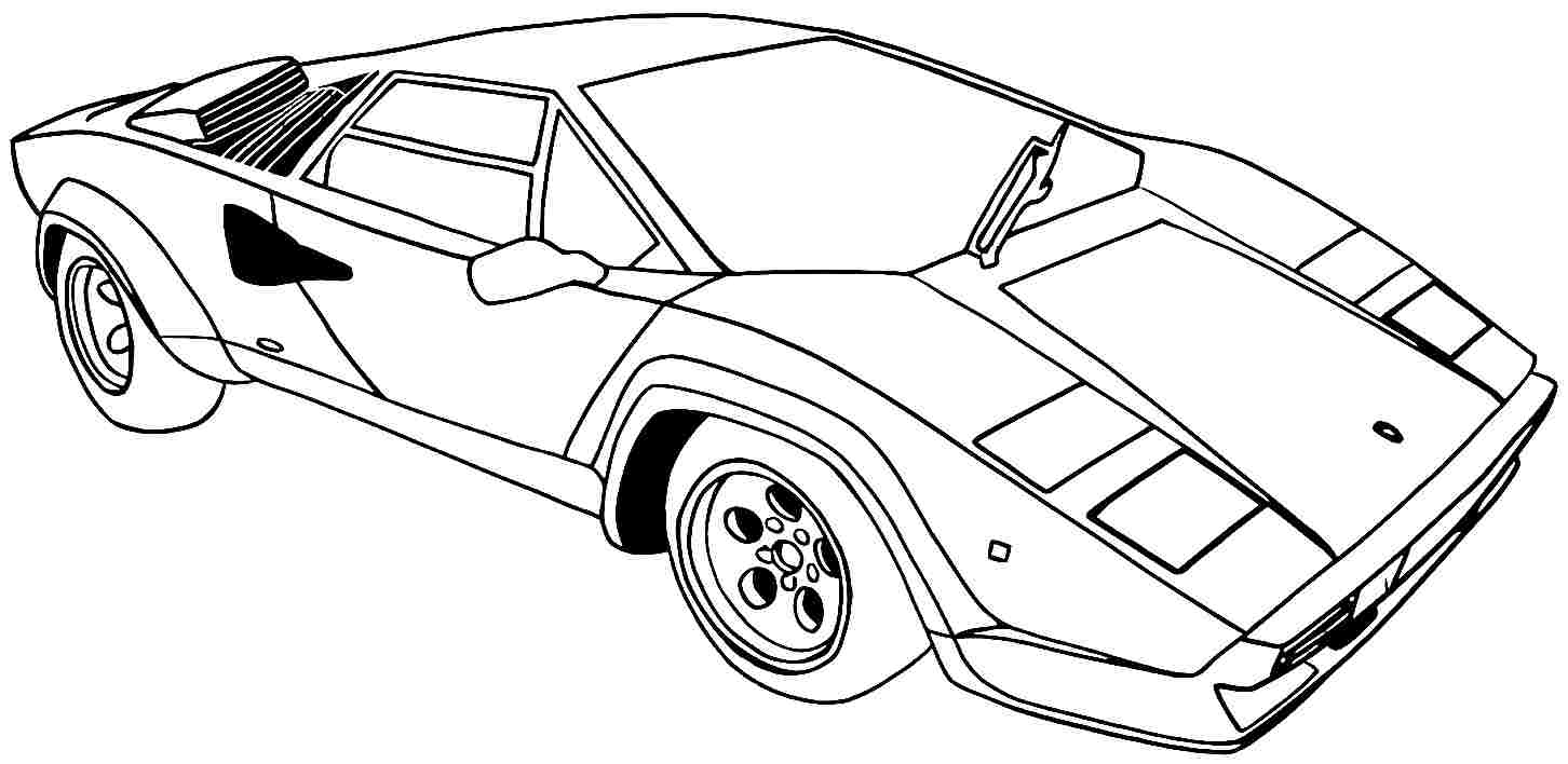 Sport Cars Drawing at Getdrawings Download – Free Coloring Sheets