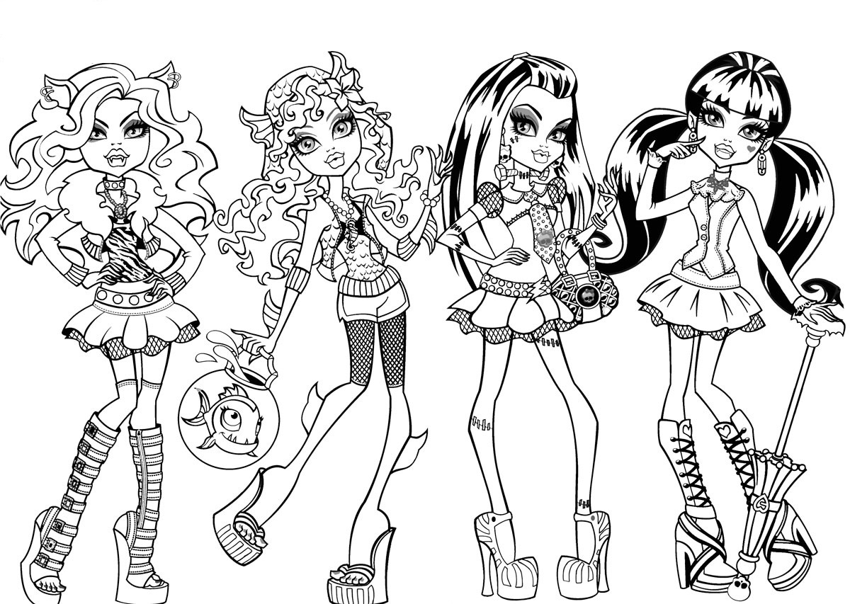 Splendid Coloring Pages for Girls Monster High Coloring for Sweet to Print Of Lagoona Blue Monster High Coloring Pages for Kids Printable Free Printable