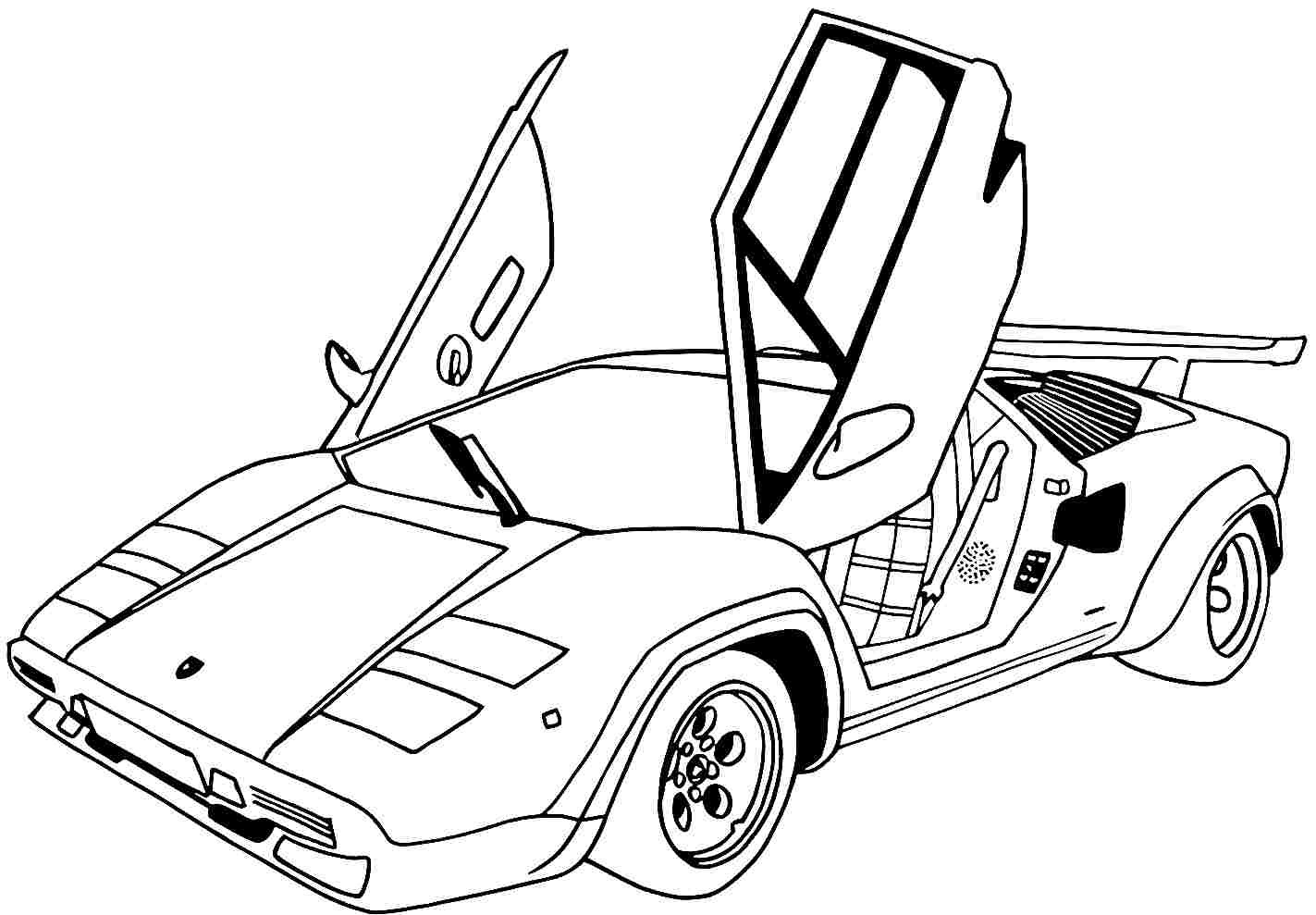 Coloring Pages Sports Cars to Print 5l - Free Download