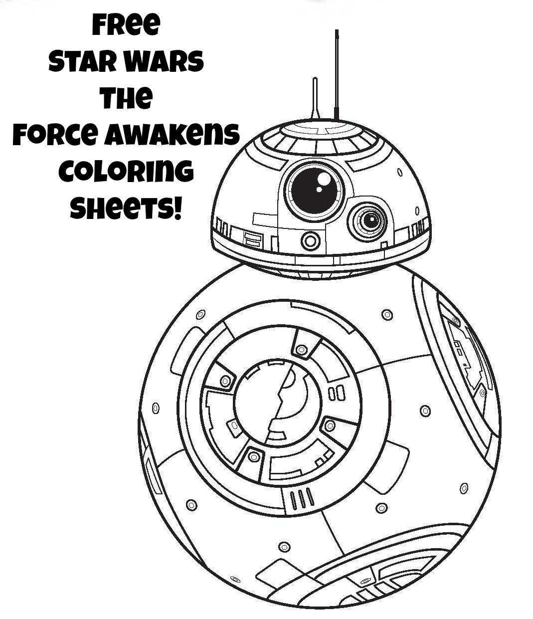 Star Wars the force Awakens Coloring Pages Download 5q - Free For kids