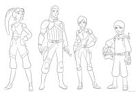 Star Wars Characters Coloring Pages - Star Wars Rebels Characters Coloring Page Download