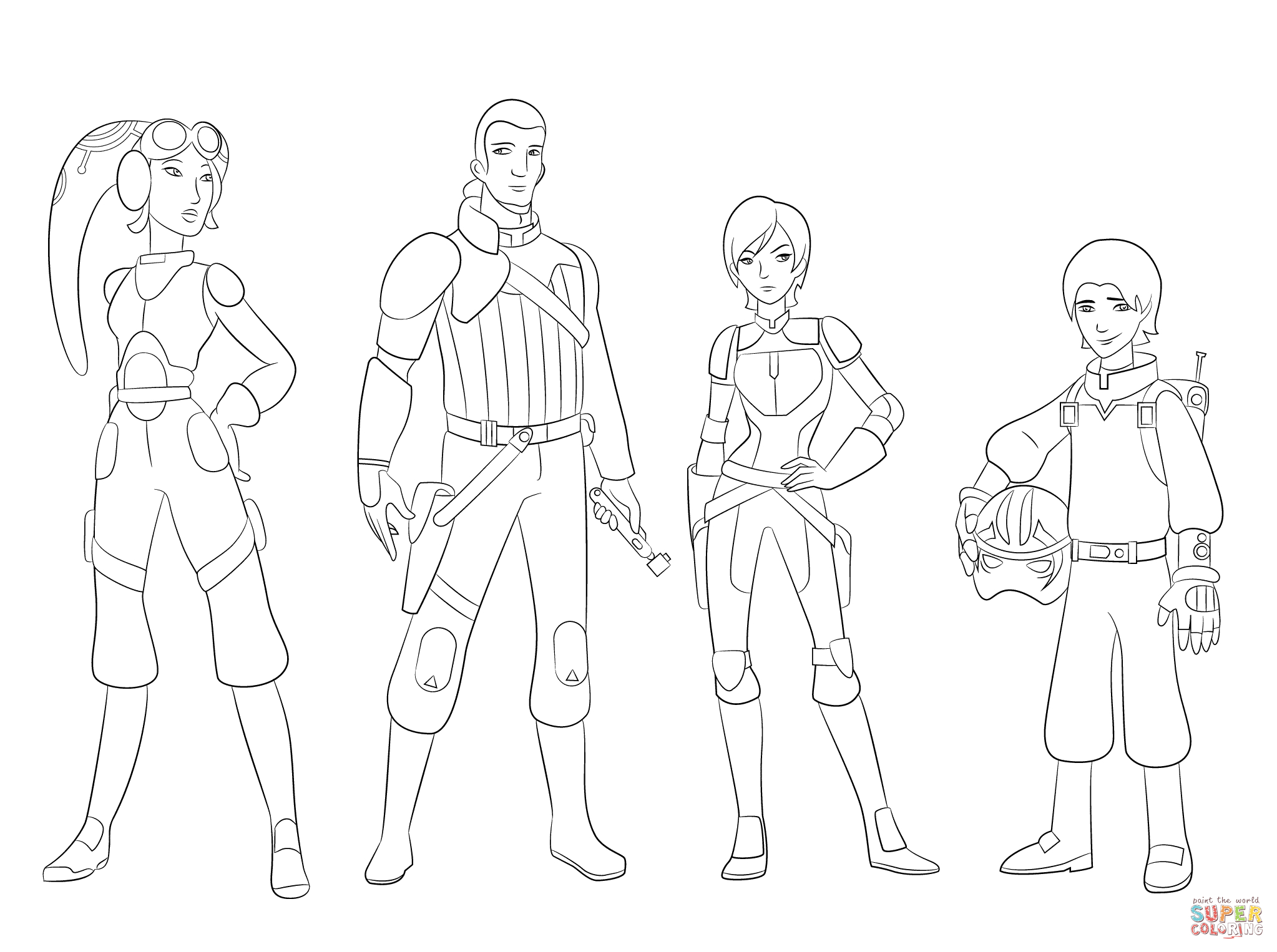 Star Wars Rebels Characters Coloring Page Download Of Unique Star Wars Cartoon Characters Coloring Pages Collection to Print
