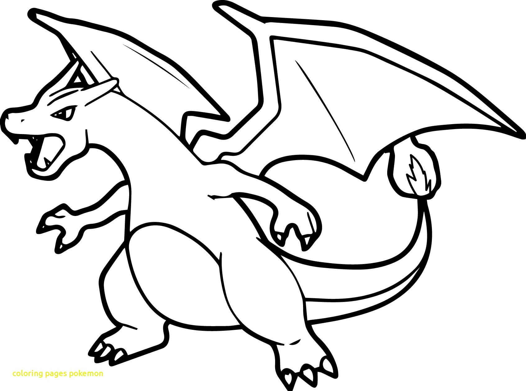 Pokemon Coloring Pages Charizard Printable 12p - Free For Children