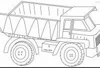 Truck Coloring Pages - Superb Dump Truck Coloring Pages Printable with Semi Inside to Print