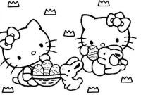 Online Easter Coloring Pages - T Ng H P C C Tranh T M U Cho B Y U Hello Kitty Easter Bunny Download