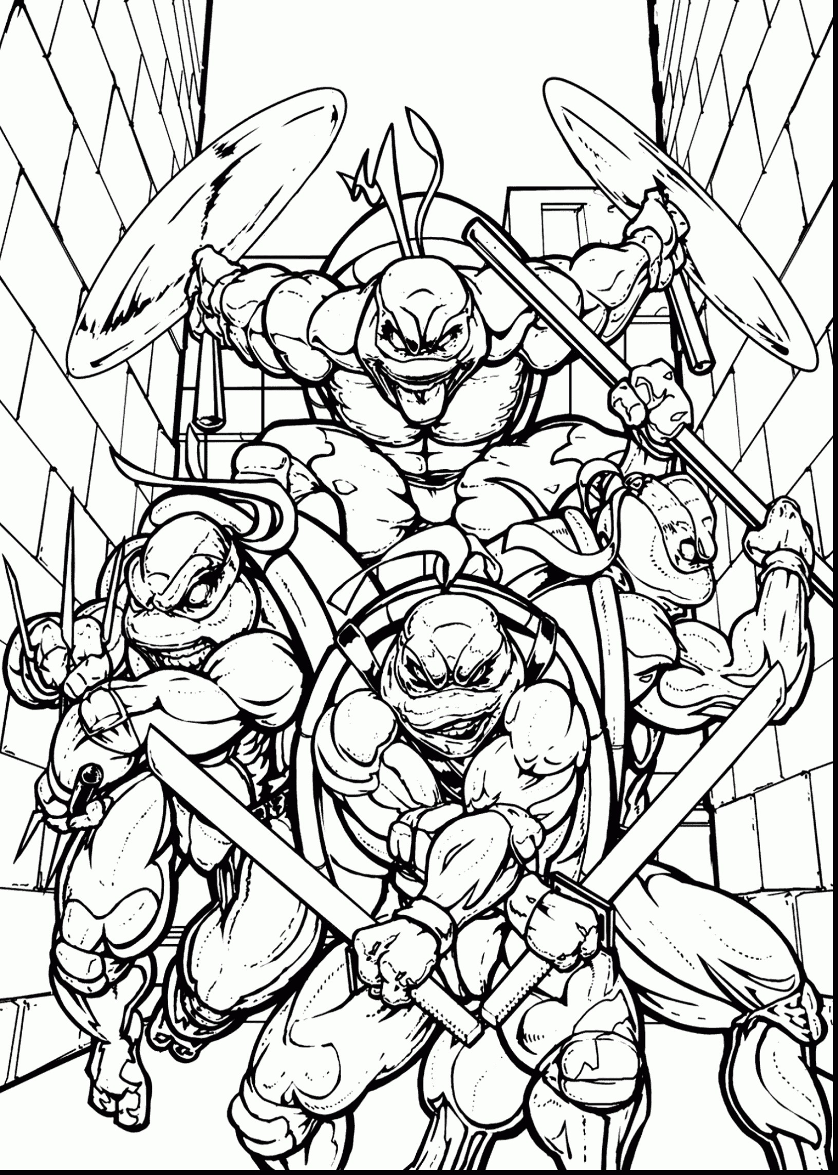 Ninja Turtle Coloring Books Download Printable Coloring Pages ...