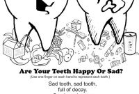 Teeth Coloring Pages - Teeth Coloring Pages Happy tooth & Sad tooth Fingerplay Download