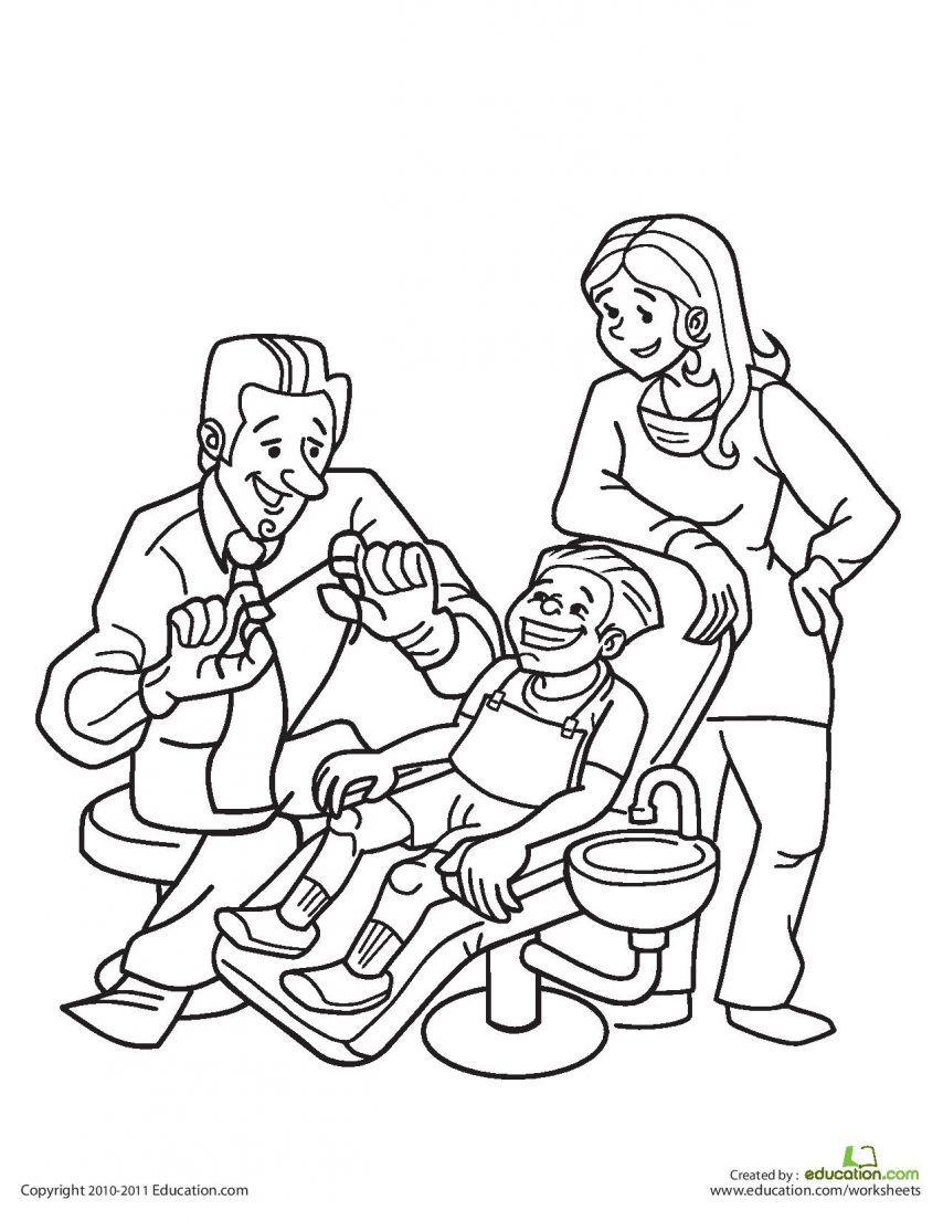 Teeth Coloring Pages Preschool Gallery Of No Fear Kids Zone Download