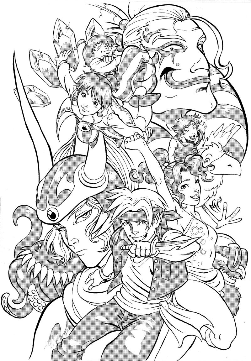 Final Fantasy Coloring Pages Gallery 12l - To print for your project