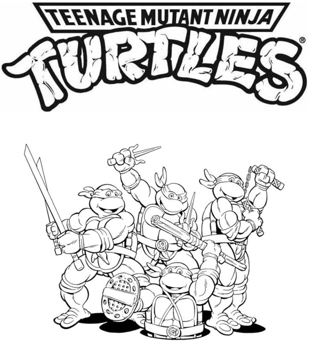 Tmnt Coloring Pages Lineart Tmnt Pinterest to Print – Free Coloring ...