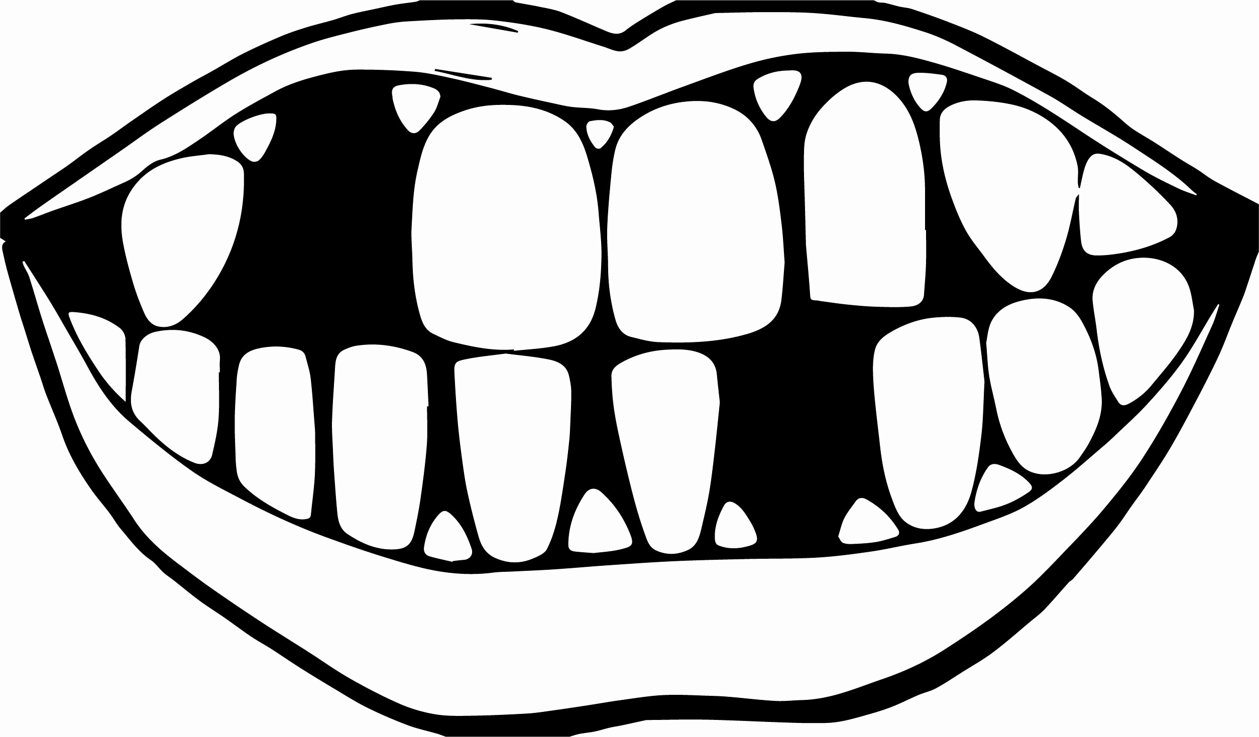 This is a picture of Versatile Teeth Coloring Sheet