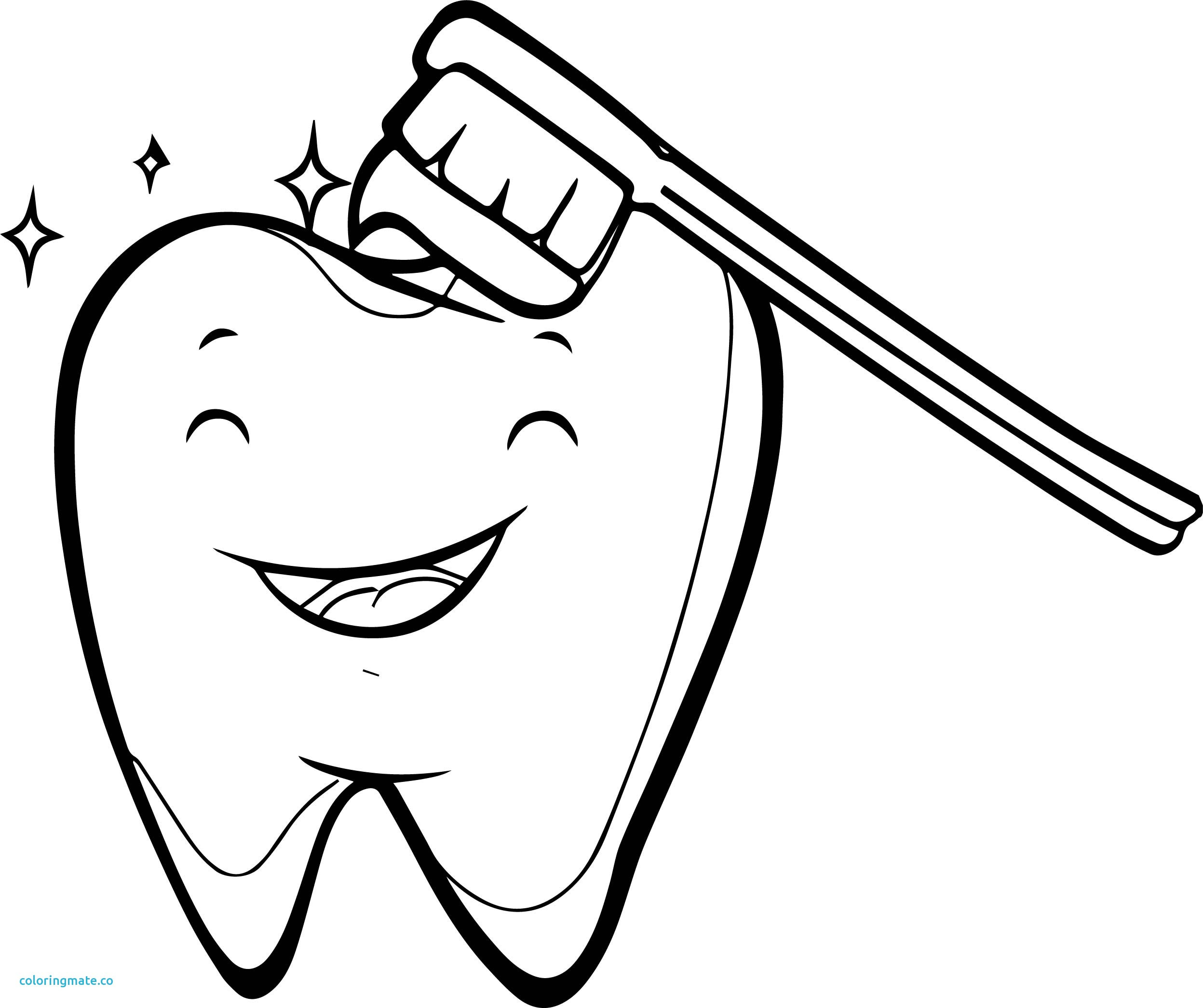 It is a graphic of Clean Teeth Coloring Sheet