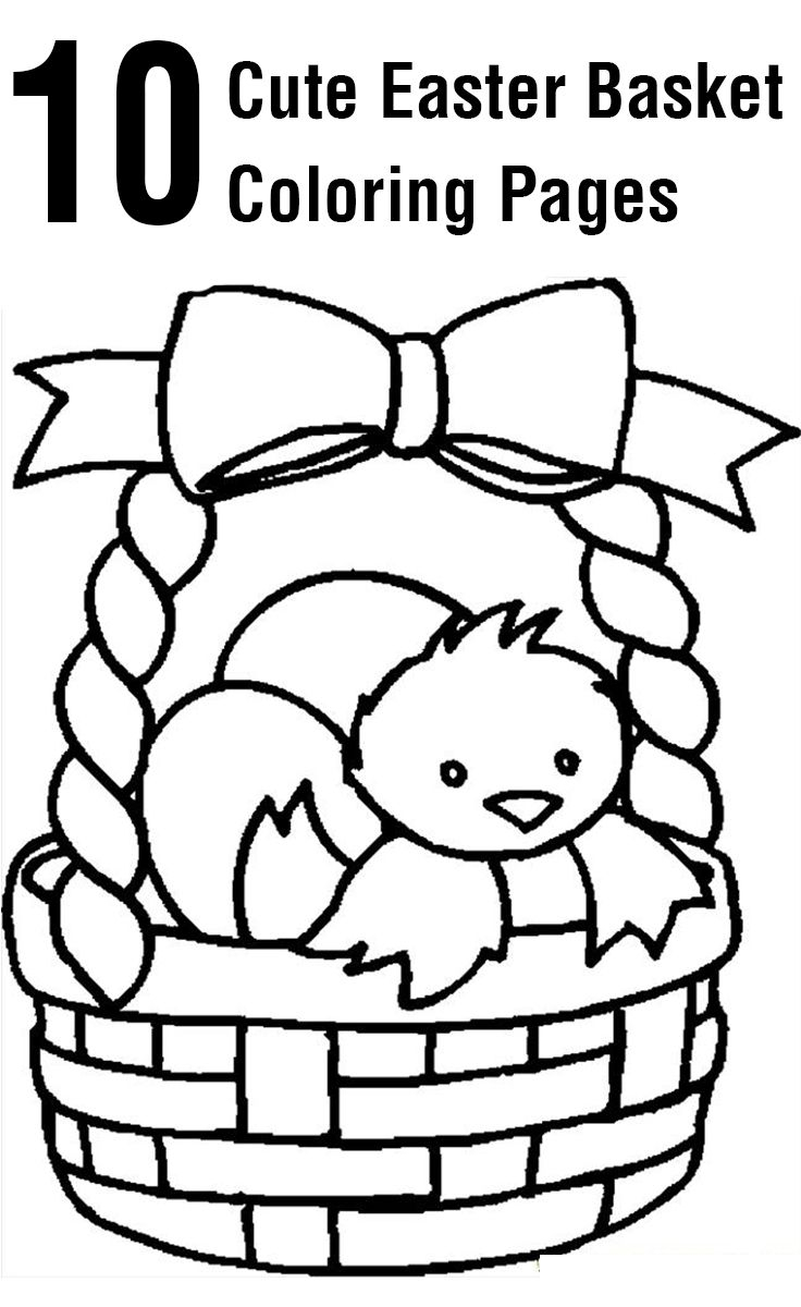 Top 10 Free Printable Easter Basket Coloring Pages Line Download Of Easter Coloring Pages for Kids Crazy Little Projects Printable