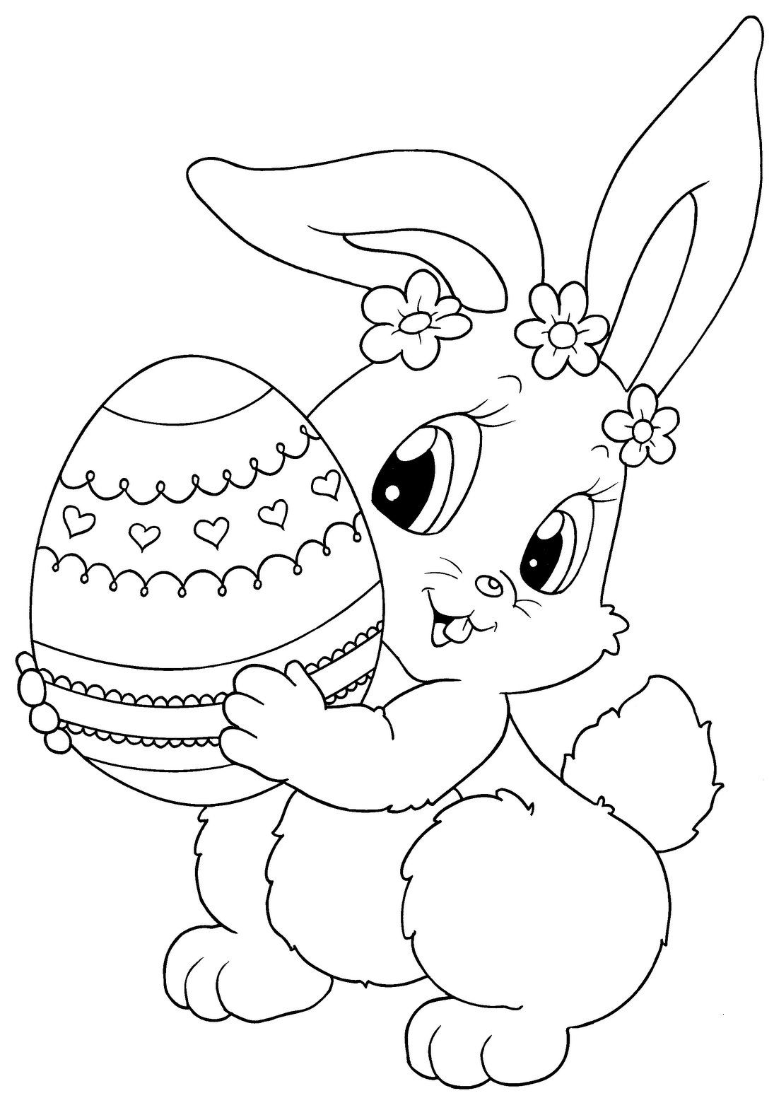 Top 15 Free Printable Easter Bunny Coloring Pages Line Gallery Of Easter Coloring14 Gallery