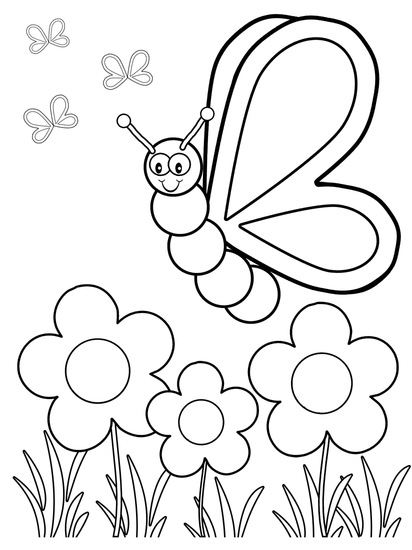 Top 50 Free Printable butterfly Coloring Pages Line Download Of Free Preschool Coloring Pages Page for Kindergarten School Download