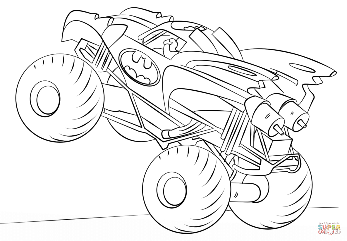 Fresh Monster Truck Colouring Pages to Print Collection – Free ...
