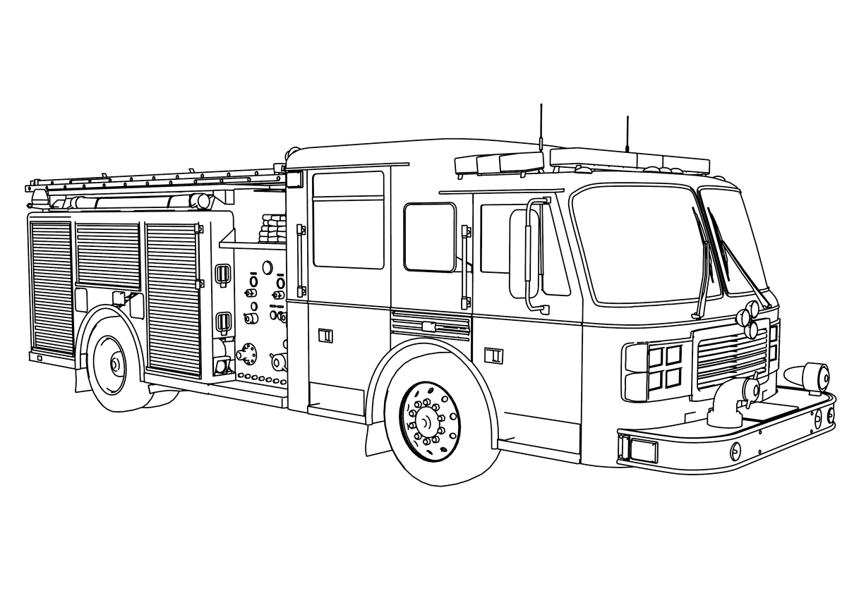 Semi Truck Coloring Pictures - Worksheet & Coloring Pages