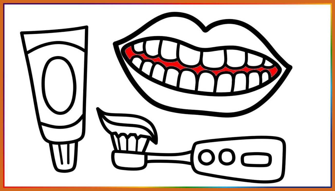 Unbelievable the Best toothbrush Coloring Page Preschool A to Print