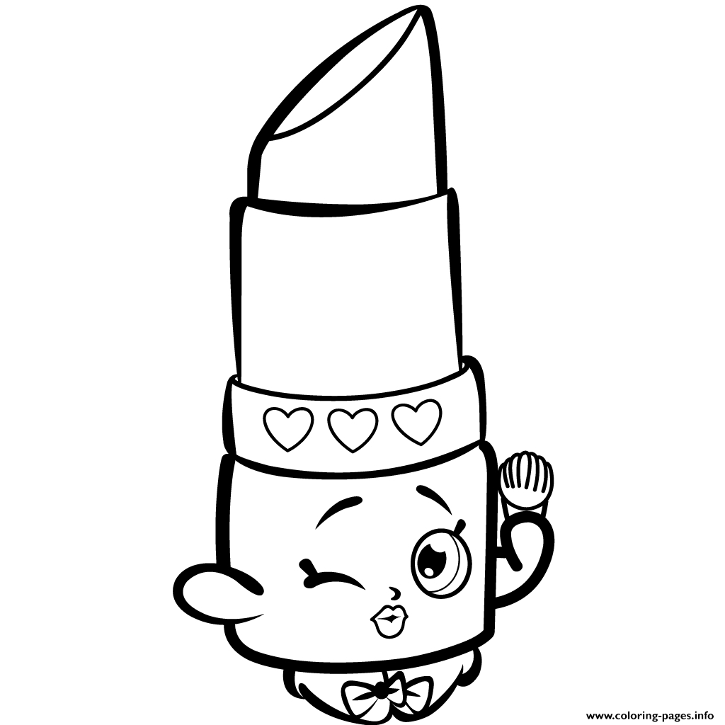 Unique Shopkins Coloring Pages Lippy Lips Design to Print Of 40 Printable Shopkins Coloring Pages Gallery