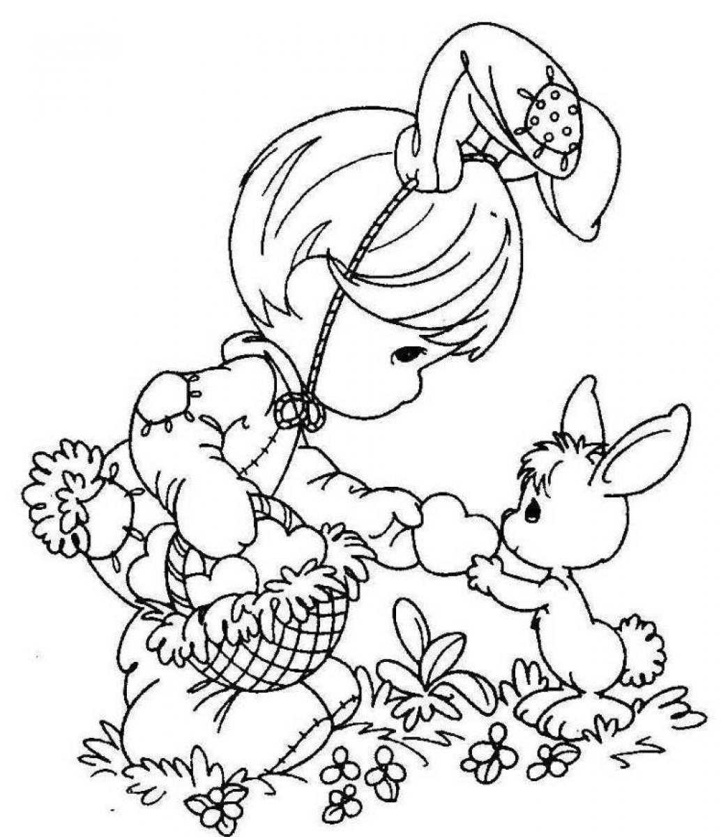 Online Easter Coloring Pages to Print 16h - Free For kids