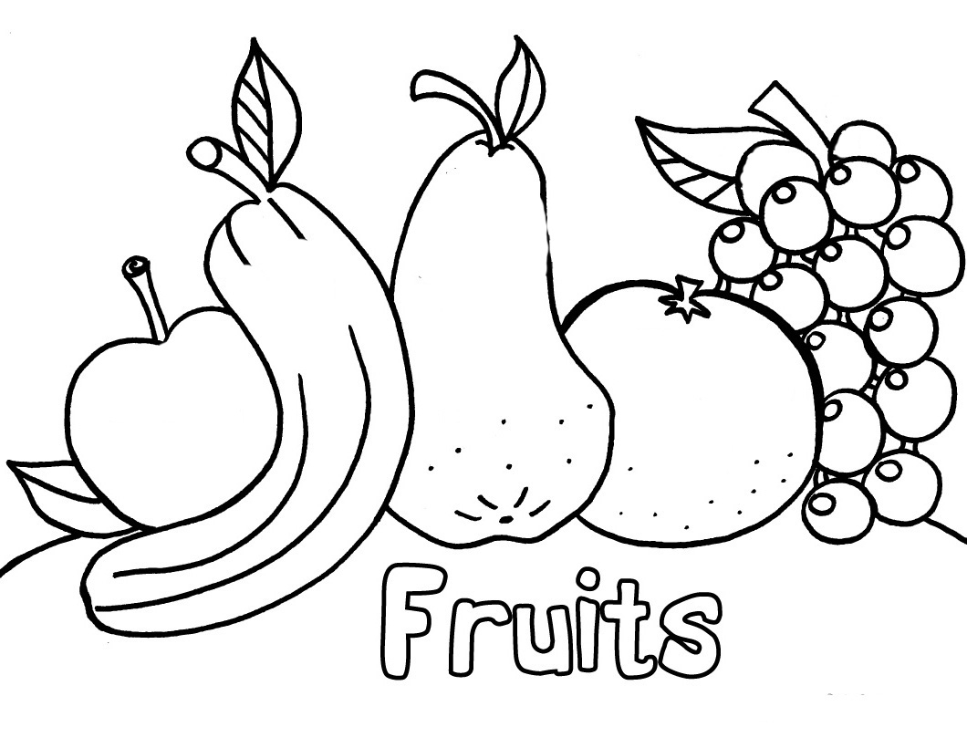 Ve Ables and Fruits Download Of Free Preschool Coloring Pages Page for Kindergarten School Download