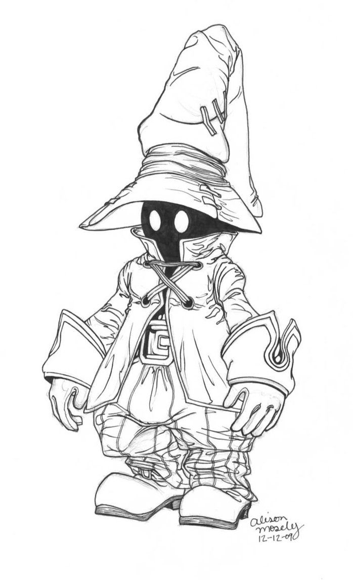 Vivi Final Fantasy 9 by themosealiviantart On Deviantart to Print Of Sephiroth Line by Skylewolf 900—1273 Collection