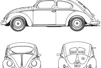 Volkswagen Beetle Coloring Pages - Volkswagen Beetle 1952 Coloring Page Printable